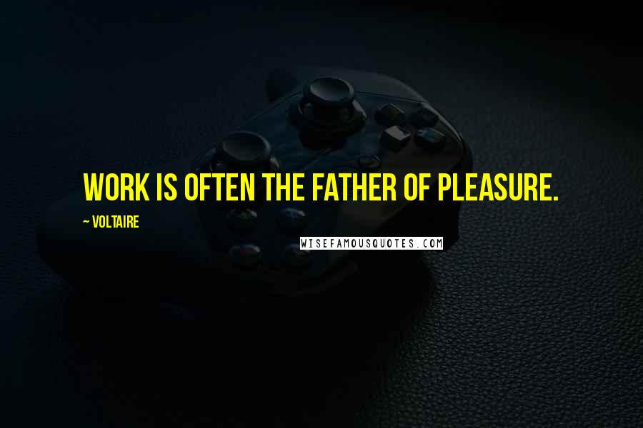 Voltaire quotes: Work is often the father of pleasure.