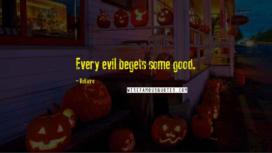 Voltaire quotes: Every evil begets some good.