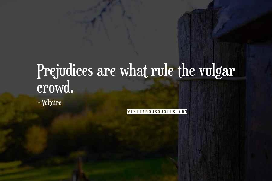 Voltaire quotes: Prejudices are what rule the vulgar crowd.