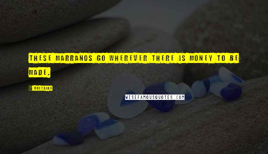 Voltaire quotes: These marranos go wherever there is money to be made.