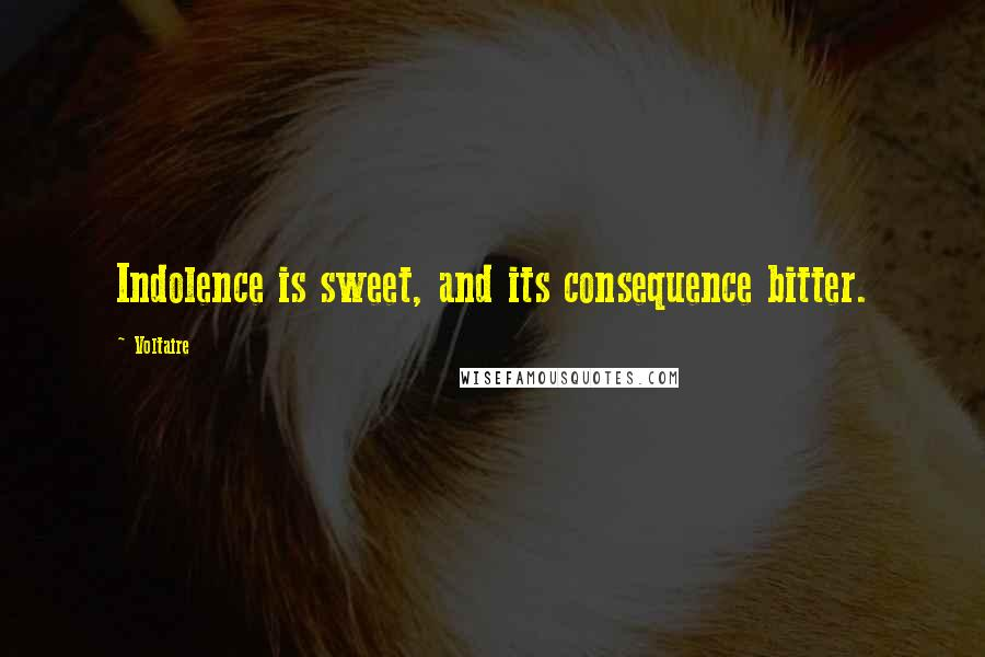 Voltaire quotes: Indolence is sweet, and its consequence bitter.