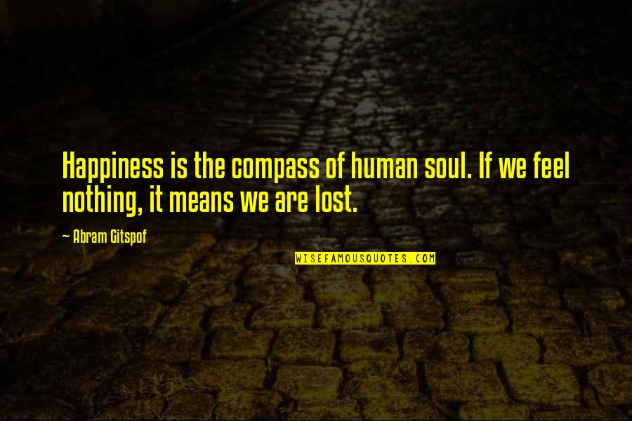 Voz Quotes By Abram Gitspof: Happiness is the compass of human soul. If
