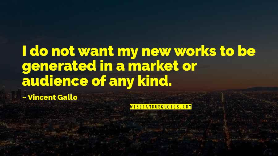 Vulnerabilty Quotes By Vincent Gallo: I do not want my new works to