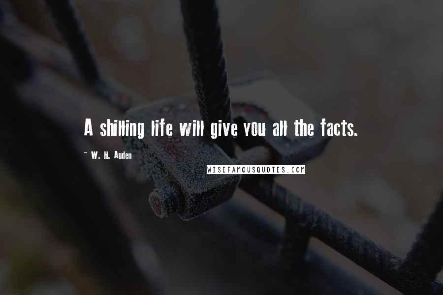 W. H. Auden quotes: A shilling life will give you all the facts.
