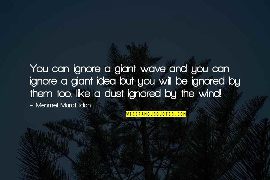 Wacky Families Quotes By Mehmet Murat Ildan: You can ignore a giant wave and you