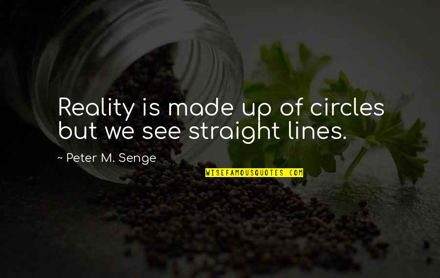 Waheguru Images With Quotes By Peter M. Senge: Reality is made up of circles but we