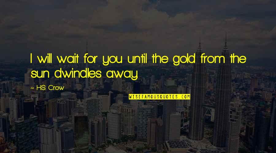 Waiting For True Love Quotes By H.S. Crow: I will wait for you until the gold