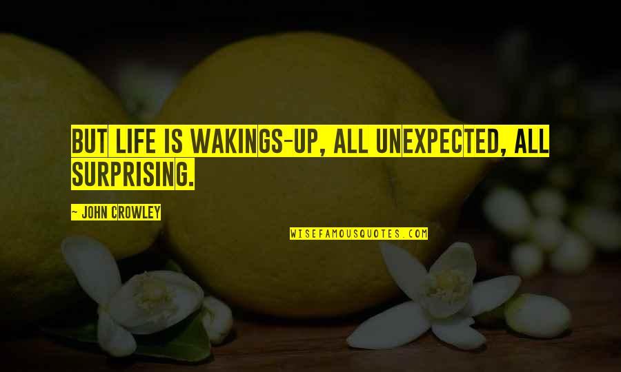 Wakings Quotes By John Crowley: But life is wakings-up, all unexpected, all surprising.