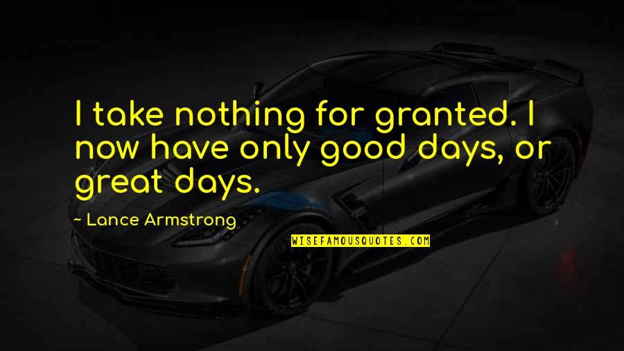 Walgreens Stock Quotes By Lance Armstrong: I take nothing for granted. I now have