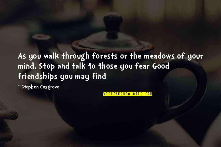 Walk The Talk Quotes By Stephen Cosgrove: As you walk through forests or the meadows