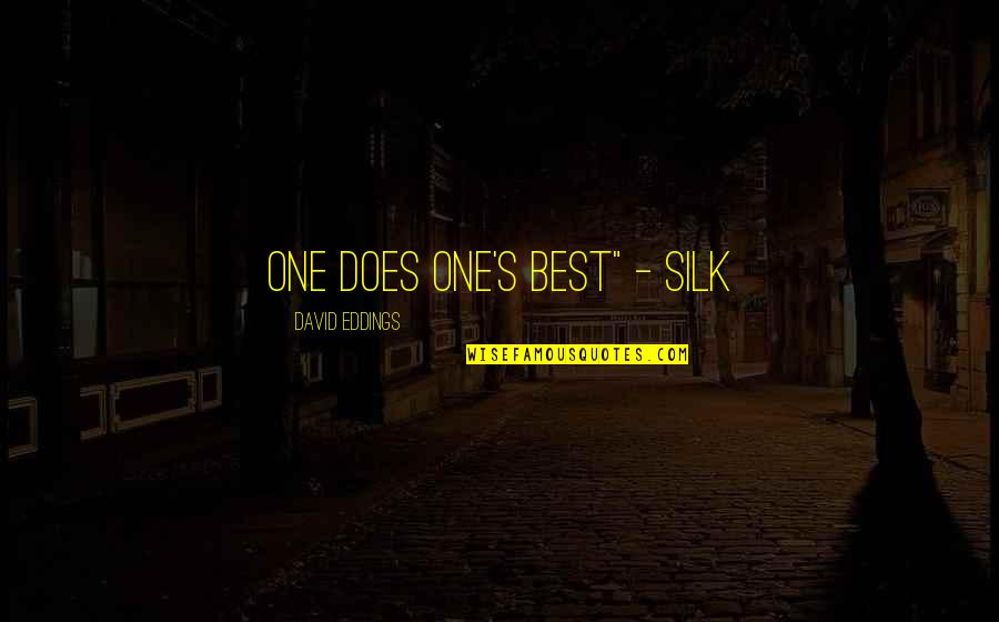 "Walking Dead Daryl Funny Quotes By David Eddings: One does one's best"" - Silk"