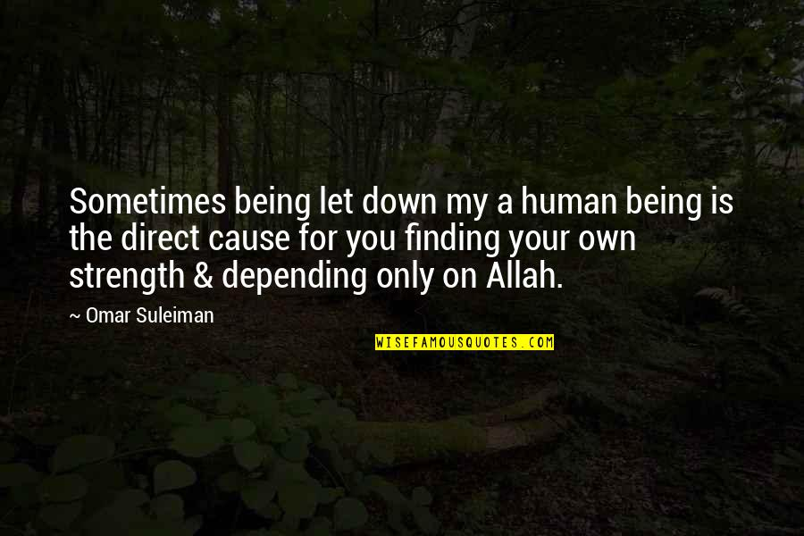 Walking With Dinosaurs Quotes By Omar Suleiman: Sometimes being let down my a human being