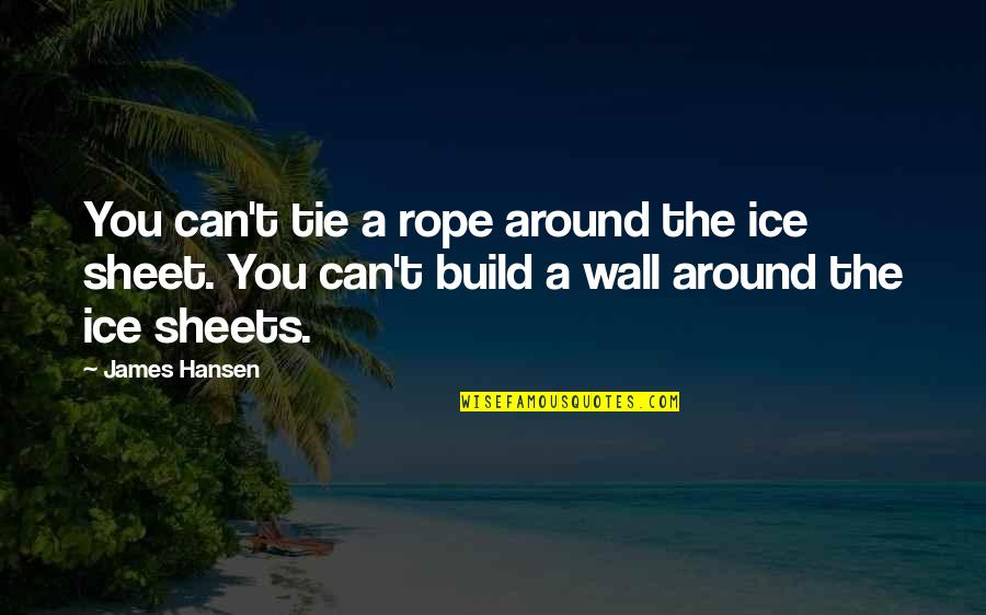 Wall Build Up Quotes By James Hansen: You can't tie a rope around the ice