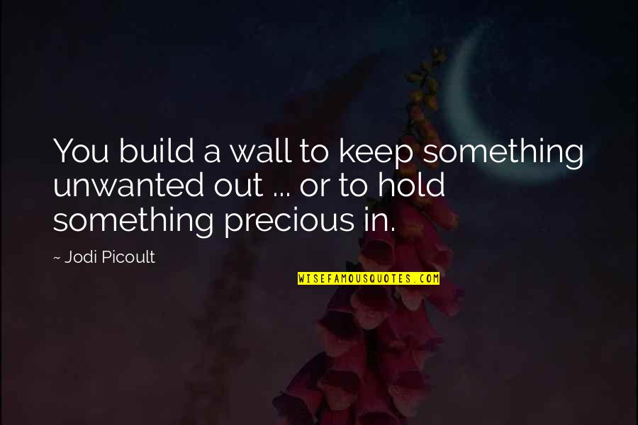 Wall Build Up Quotes By Jodi Picoult: You build a wall to keep something unwanted