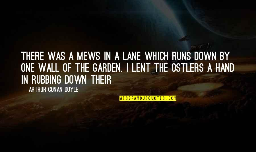Wall-e Quotes By Arthur Conan Doyle: There was a mews in a lane which