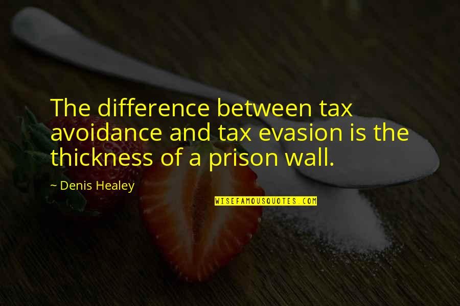 Wall-e Quotes By Denis Healey: The difference between tax avoidance and tax evasion