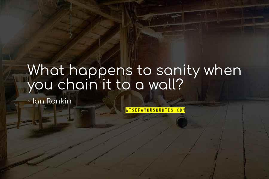 Wall-e Quotes By Ian Rankin: What happens to sanity when you chain it