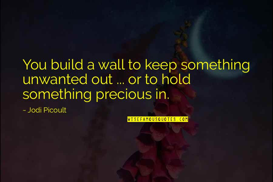 Wall-e Quotes By Jodi Picoult: You build a wall to keep something unwanted