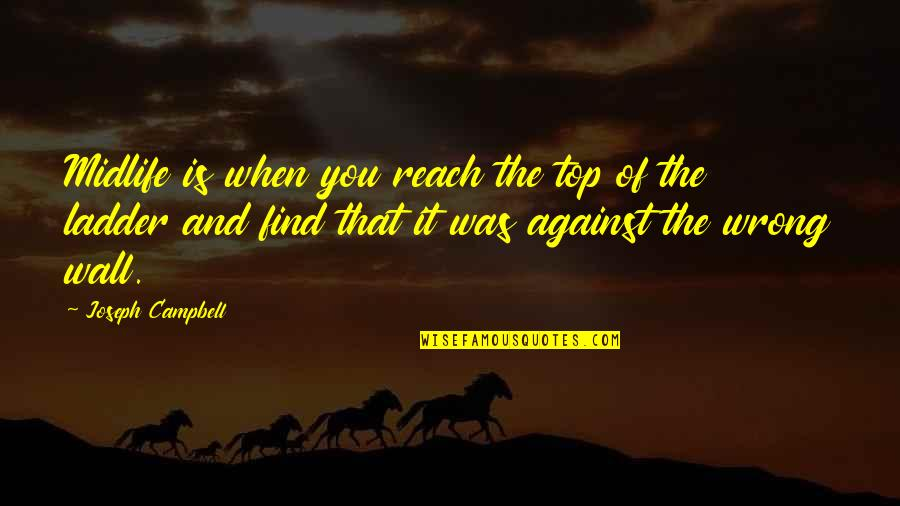 Wall-e Quotes By Joseph Campbell: Midlife is when you reach the top of