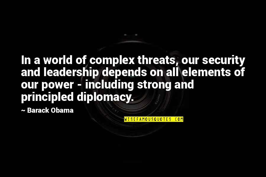 Wallpapers Having Quotes By Barack Obama: In a world of complex threats, our security