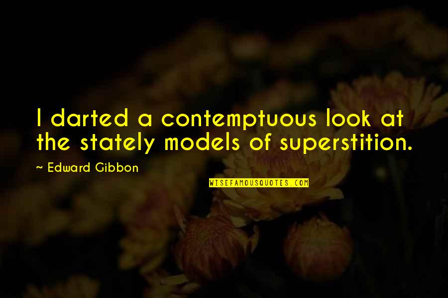 Walls Being Put Up Quotes By Edward Gibbon: I darted a contemptuous look at the stately