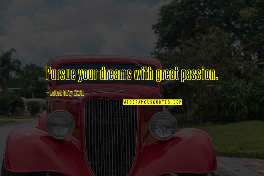 Walmart Stock Quotes By Lailah Gifty Akita: Pursue your dreams with great passion.