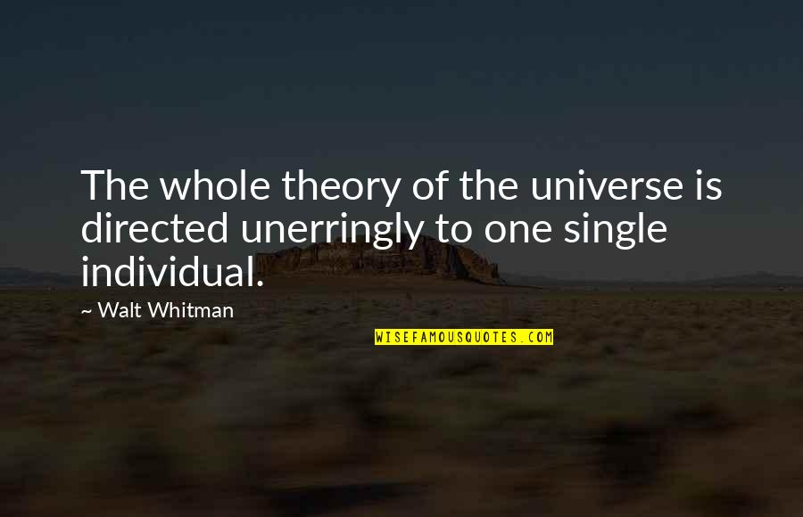 Walt Whitman Quotes By Walt Whitman: The whole theory of the universe is directed