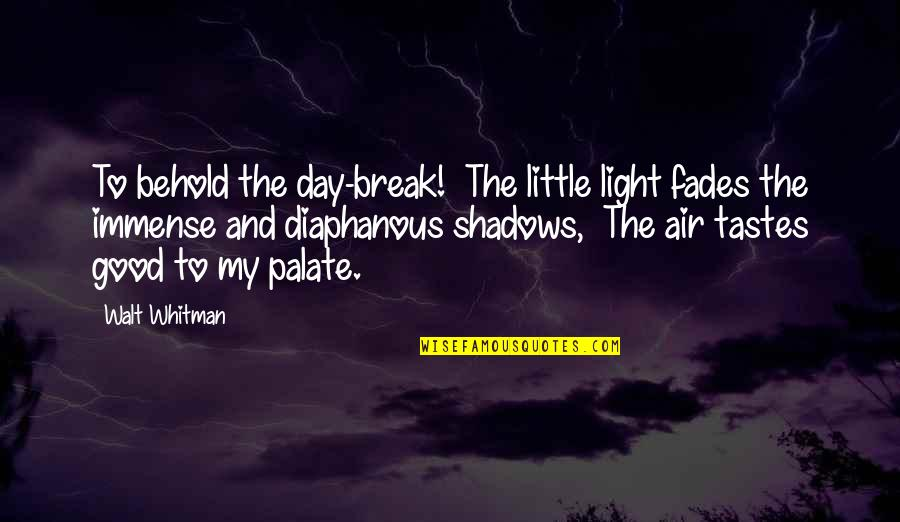 Walt Whitman Quotes By Walt Whitman: To behold the day-break! The little light fades
