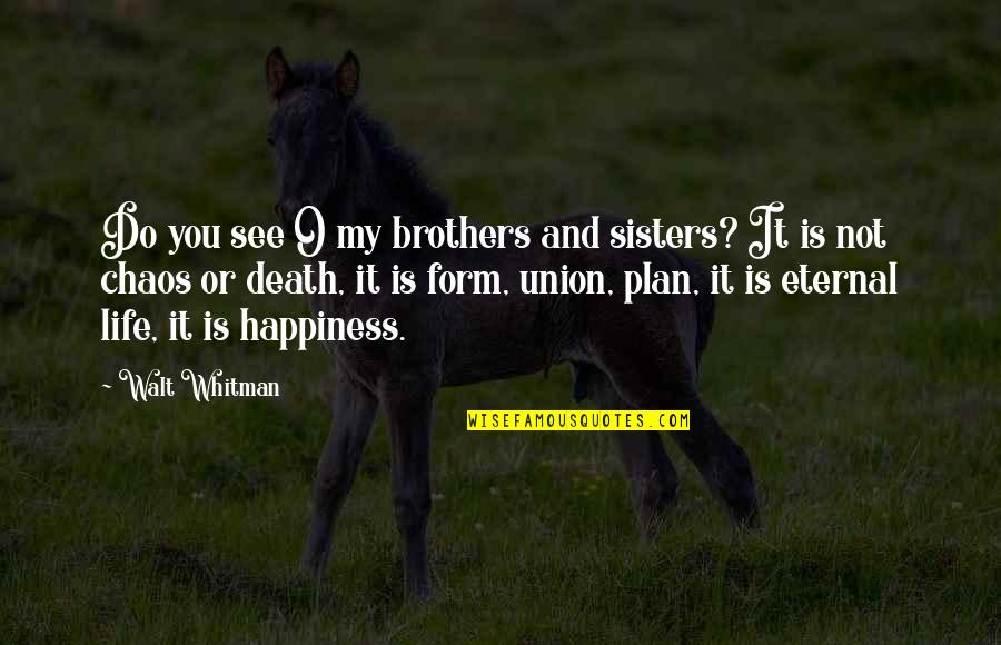 Walt Whitman Quotes By Walt Whitman: Do you see O my brothers and sisters?