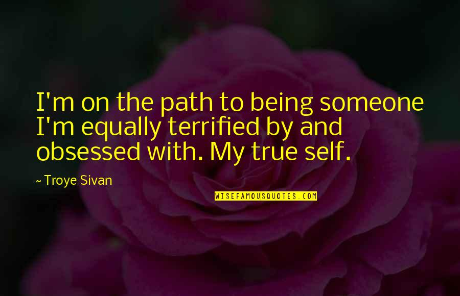 Walter Peck Quotes By Troye Sivan: I'm on the path to being someone I'm