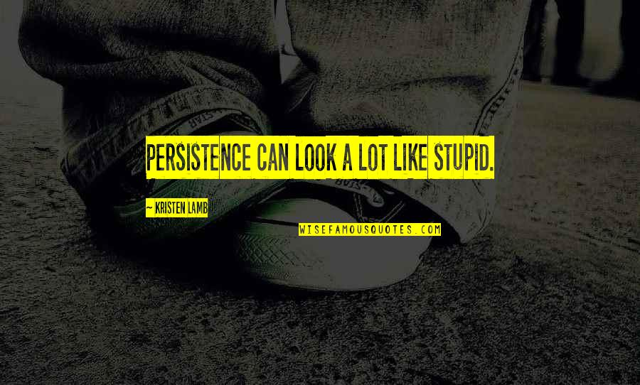 Wana Quotes By Kristen Lamb: Persistence can look a lot like stupid.