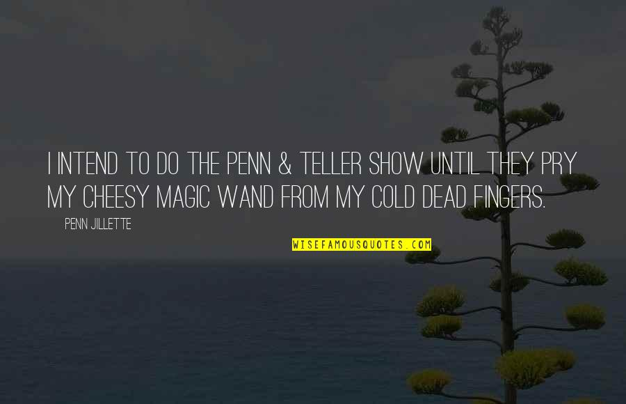 Wand'ring Quotes By Penn Jillette: I intend to do the Penn & Teller