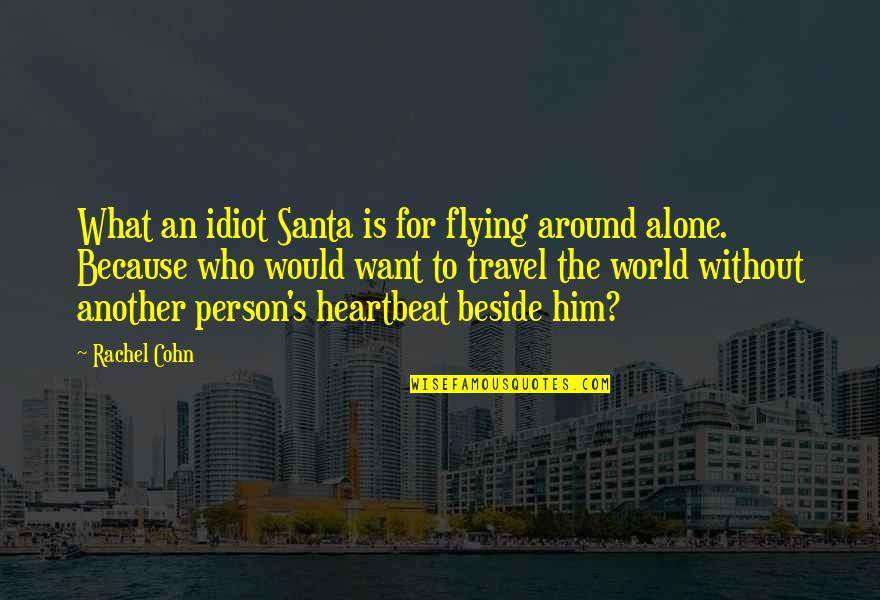 Want To Alone Quotes By Rachel Cohn: What an idiot Santa is for flying around