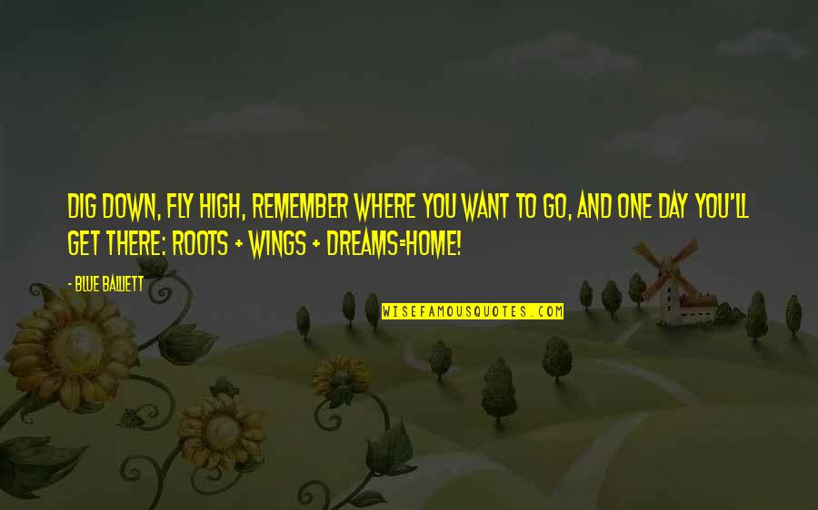 Want To Get High Quotes By Blue Balliett: Dig down, fly high, remember where you want