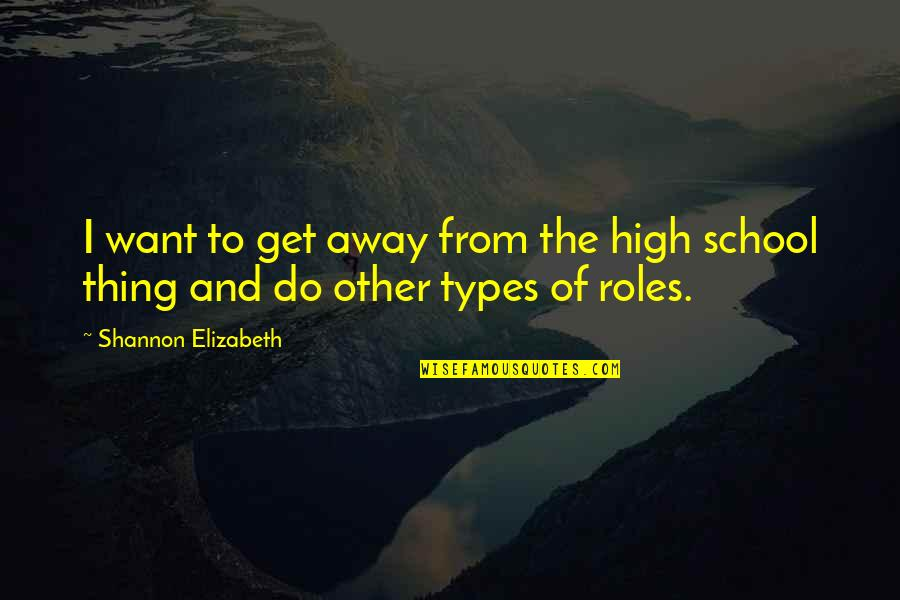 Want To Get High Quotes By Shannon Elizabeth: I want to get away from the high