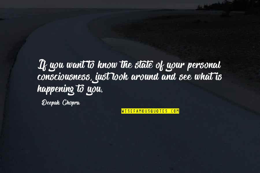 Want To See You Quotes By Deepak Chopra: If you want to know the state of