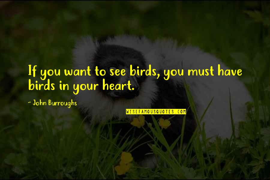 Want To See You Quotes By John Burroughs: If you want to see birds, you must
