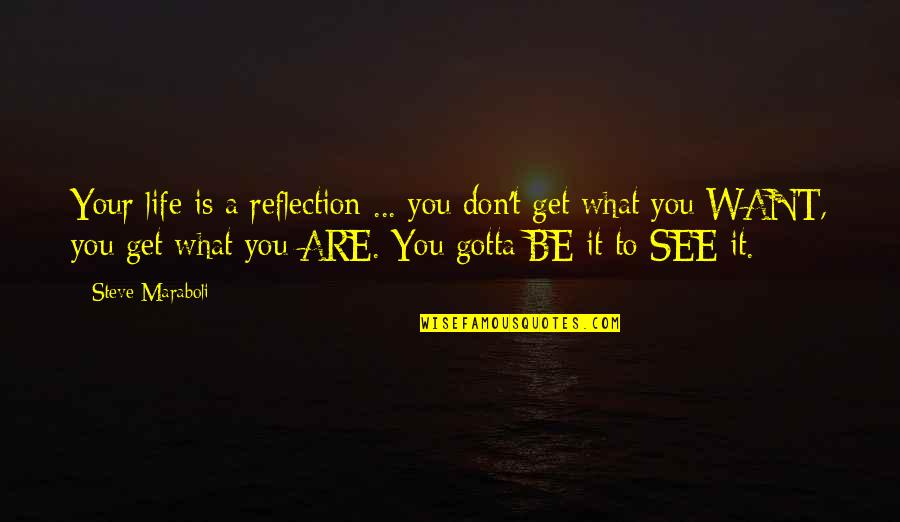 Want To See You Quotes By Steve Maraboli: Your life is a reflection ... you don't