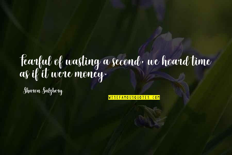 Wanting Someone Next To You Quotes By Sharon Salzberg: Fearful of wasting a second, we hoard time