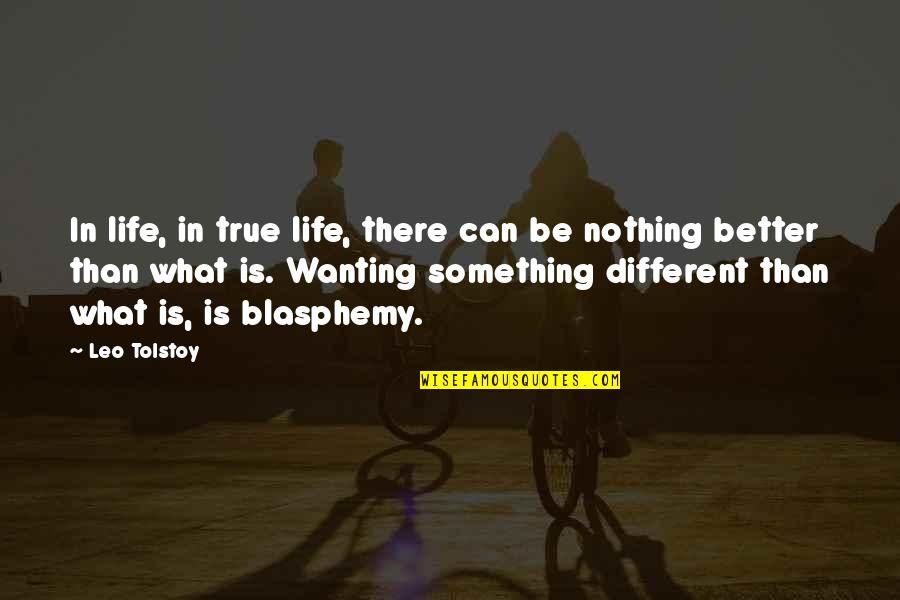 Wanting Something Quotes By Leo Tolstoy: In life, in true life, there can be