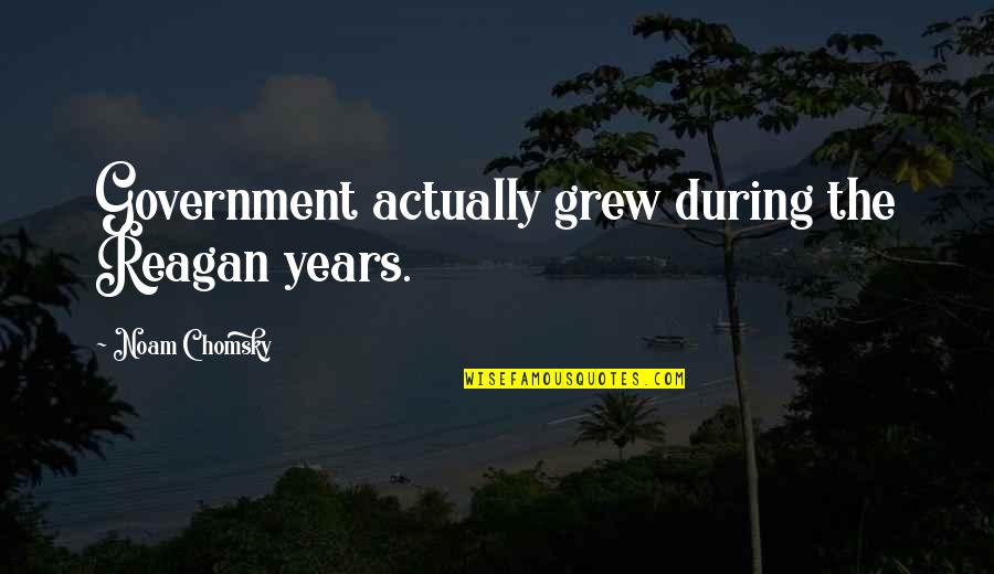 Wanting To Have A Girlfriend Quotes By Noam Chomsky: Government actually grew during the Reagan years.
