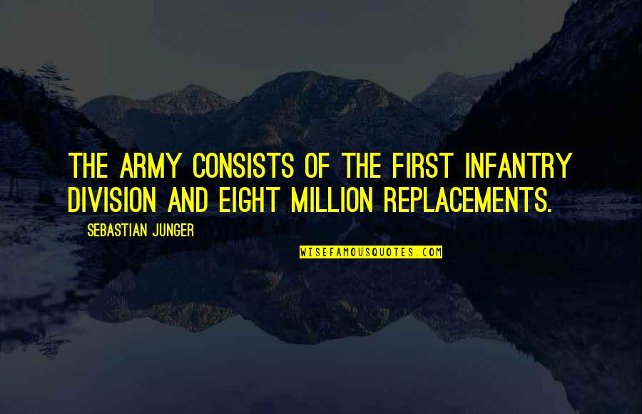War And Soldiers Quotes By Sebastian Junger: The army consists of the first infantry division