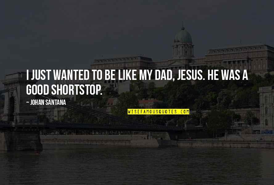 Waray Love Quotes By Johan Santana: I just wanted to be like my dad,