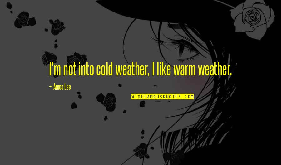 Warm Weather Quotes By Amos Lee: I'm not into cold weather, I like warm
