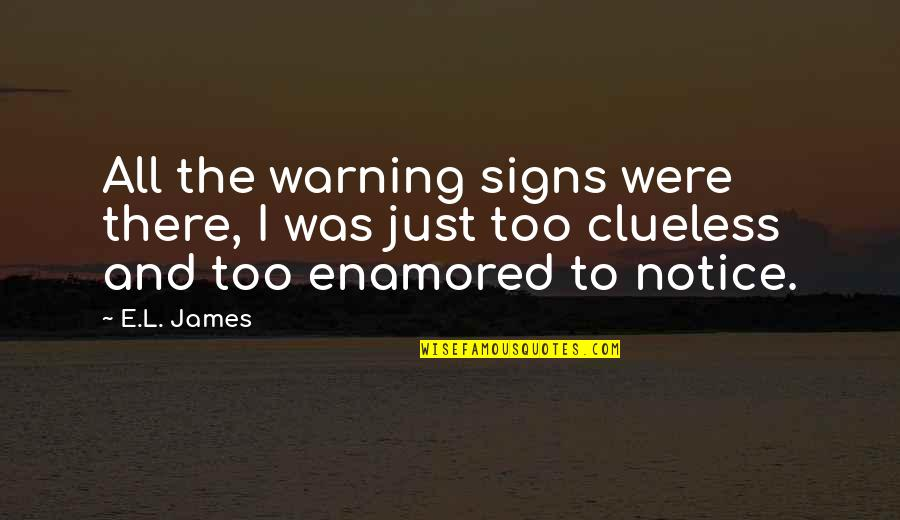 Warning Signs Quotes By E.L. James: All the warning signs were there, I was