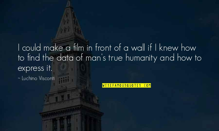 Warrenism Quotes By Luchino Visconti: I could make a film in front of