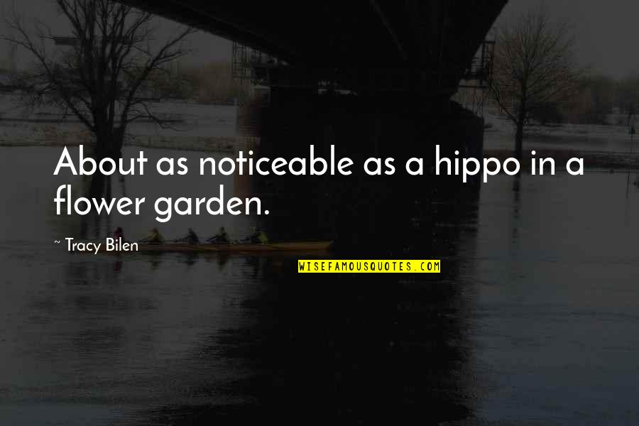 Warwick Todd Quotes By Tracy Bilen: About as noticeable as a hippo in a