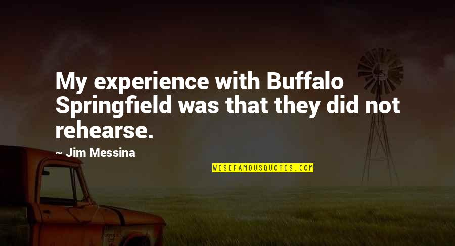 Was'nt Quotes By Jim Messina: My experience with Buffalo Springfield was that they