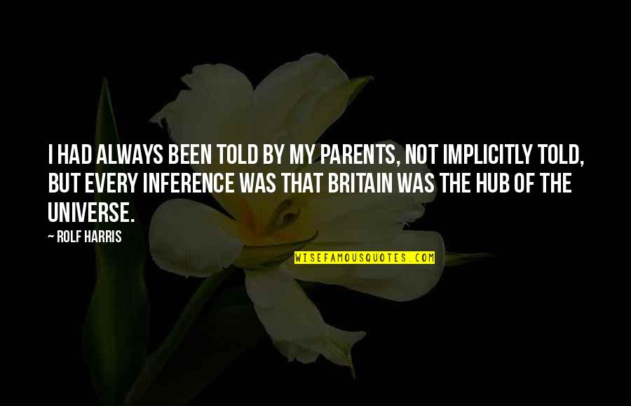 Was'nt Quotes By Rolf Harris: I had always been told by my parents,