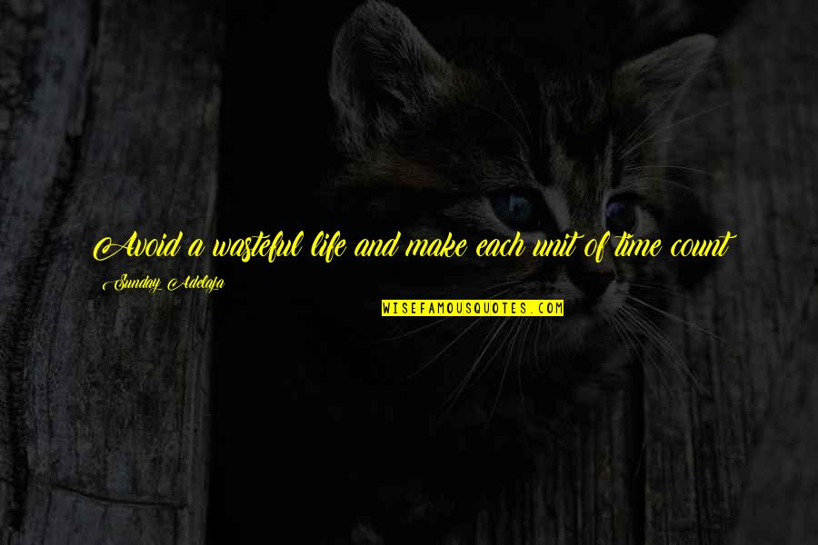 Waste Of Time And Money Quotes By Sunday Adelaja: Avoid a wasteful life and make each unit